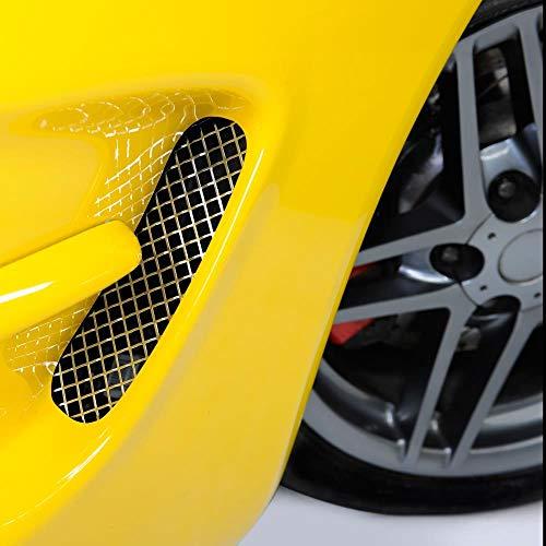 C5 Corvette Cove Side Screens Diamond Mesh Laser Cut Stainless Steel Fits: All 97 through 04 Corvettes