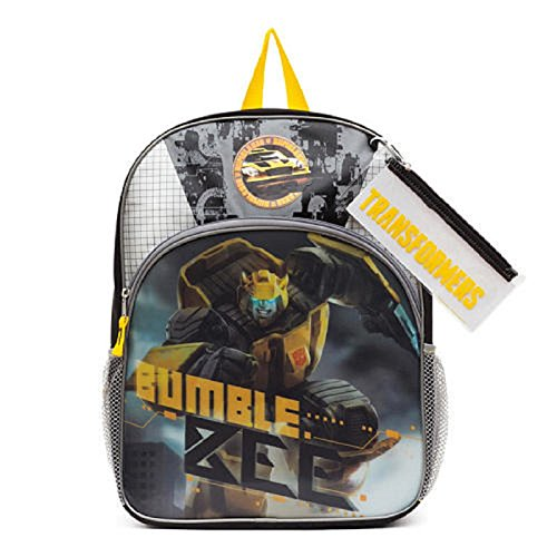 Price comparison product image Transformers Bumble Bee 3D Backpack with Bonus Pencil Case & Stickers