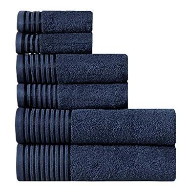 Wicker Park 600 GSM Ultra Soft 100% Cotton Towel Set, Long-Staple Cotton, Spa Hotel Quality, Super Absorbent, Machine Washable