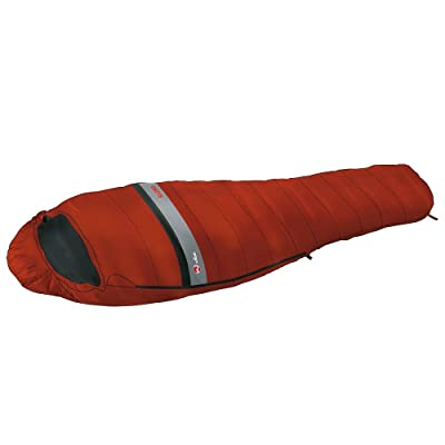 Wilsa Outdoor Sac de Couchage Duvet 5° Sarcophage 215x80 cm Rouge/Noir, KL 250 104021