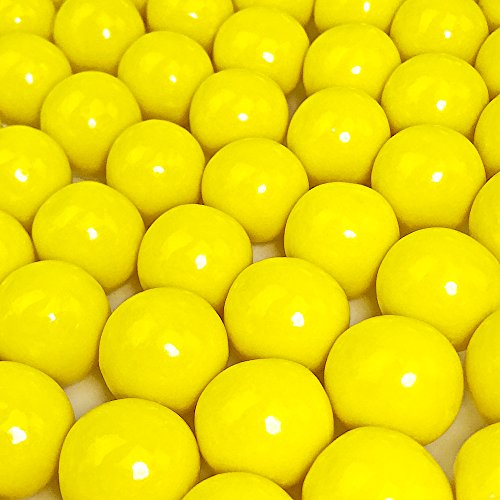 (Yellow Gumballs - 2 Pound Bags - Large - One Inch in Diameter - About 120 Gumballs Per Bag - Free