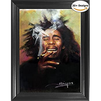 "Bob Marley Framed 3D Lenticular Picture - 14.5x18.5"" - Unbelievable Life Like Framed 3D Art Pictures, Lenticular Posters, Cool Art Deco, Unique Wall Art Decor, With Dozens to Choose From!"
