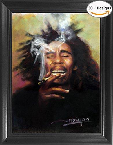 Bob Marley Framed 3D Lenticular Picture - 14.5x18.5