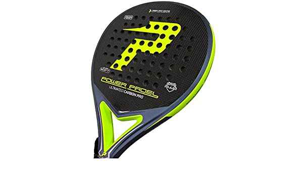 Pala Power Padel Ultimate Carbon Pro Amarillo Flúor Mate: Amazon ...