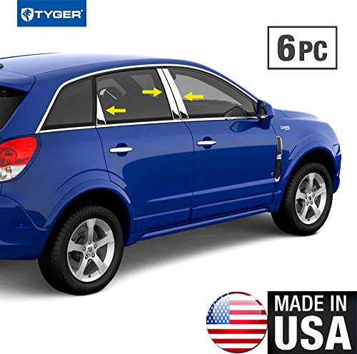 - Made In USA! Works With 2008-2015 Saturn Vue 6PC Stainless Steel Chrome Pillar Post Trim