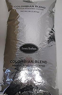 Farmer Brothers Colombian Blend Medium Roast Whole Bean Coffee (1 bag/5 lbs)