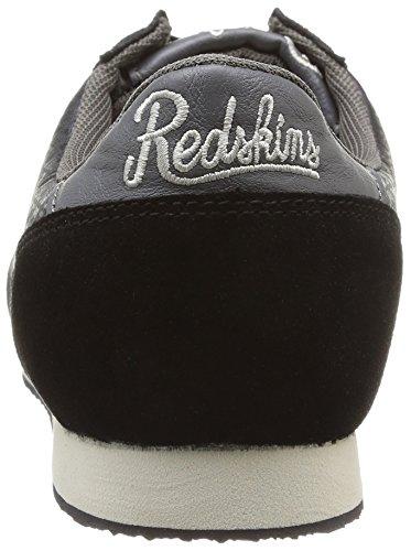 Redskins Discor - Zapatillas de Deporte de canvas hombre negro - Noir (Noir/Gris)