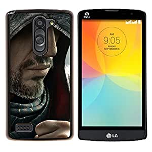 LECELL--Funda protectora / Cubierta / Piel For LG L Bello L Prime -- Barbudo Assasin --