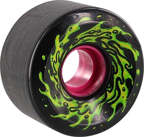 Santa Cruz Skateboards Slimeballs OG Slime Black/Glow Longboard Skateboard Wheels - 60mm 78a (Set of 4)
