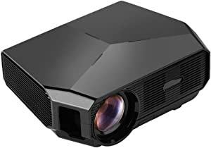 Portable Mini Projector LED Micro Projector Home Party Meeting Theater Projector,Black