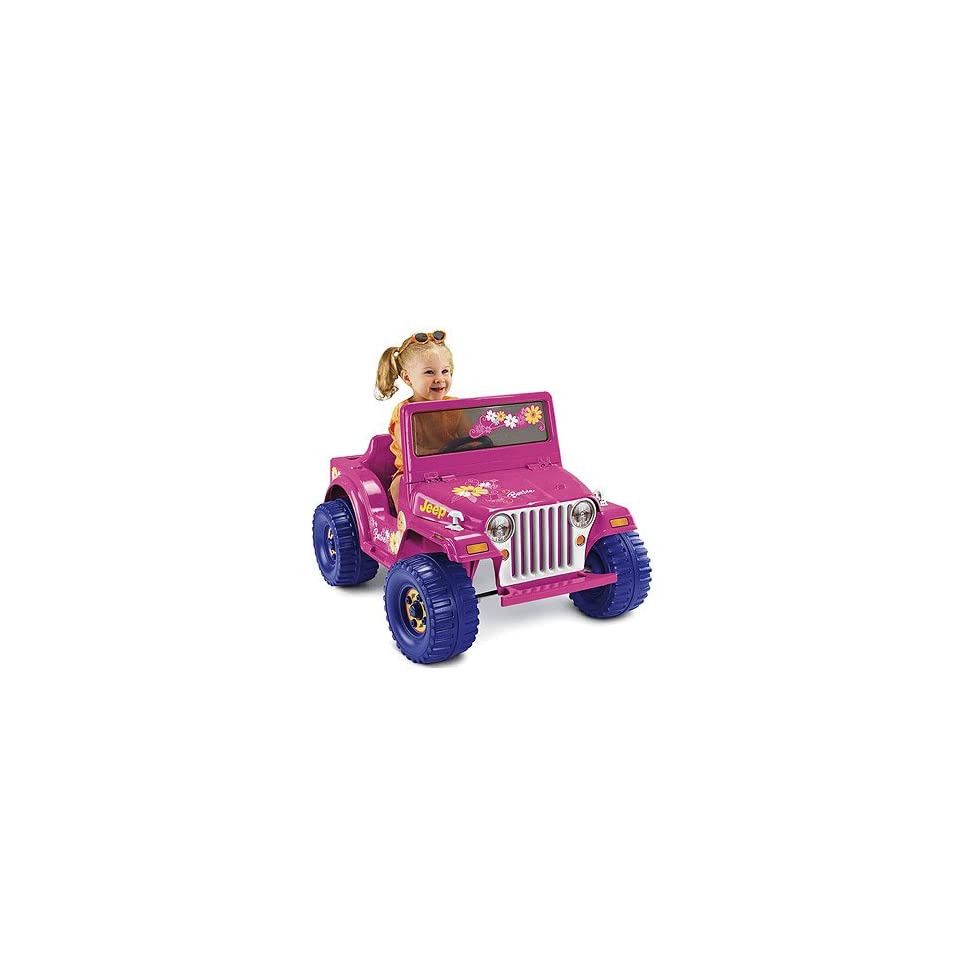 Fisher Price Power Wheels Barbie Jeep Toys & Games