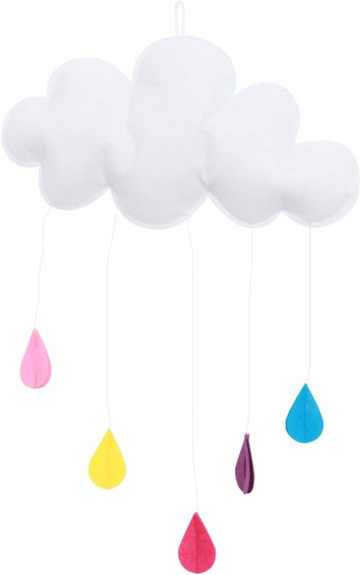 BESTOYARD Cloud Raindrop Hanging Decorations Baby Kids Room Decoration for Baby Shower Wall Door Decor