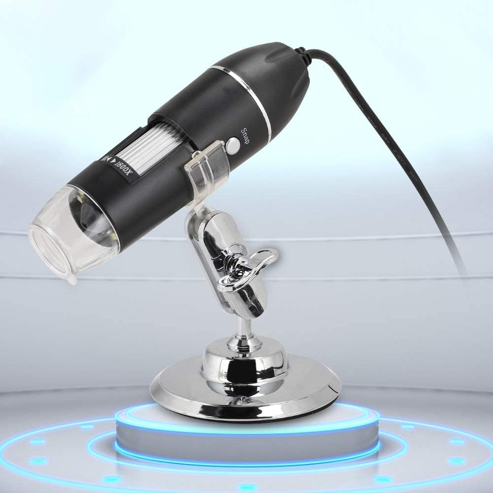 USB Microscope 1600X Magnification Endoscope with 8 LED Lights 3-40mm Manual Focus Portable Mini Microscope Camera with Bracket 2MP HD Microscope for Windows 2000//XP Vista 7//8//10