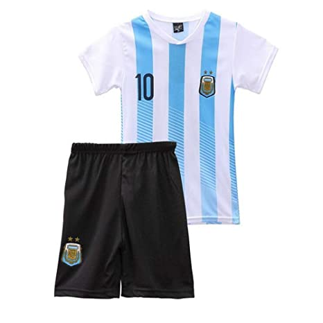 51e7dcecc Sykdybz Argentina Jersey Children s Soccer Clothing Suit 2018 Fans Football  Clothes Primary School Boys and Girls