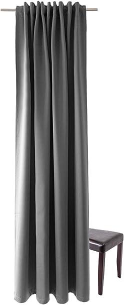Homing blickdichter Verdunkelungsvorhang Uni Gardine Anthrazit HxB 1St/ück 175 x 140 cm