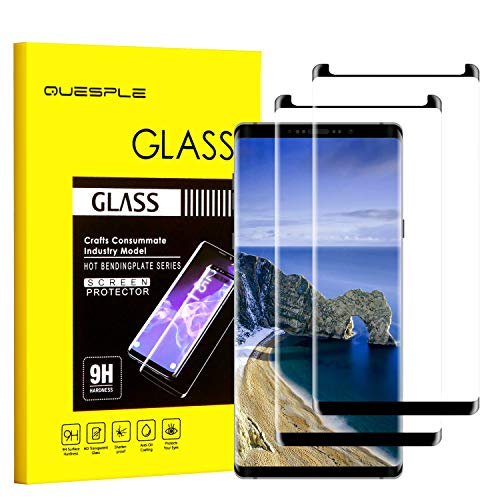 QUESPLE Galaxy Note 8 Screen Protector, [2-Pack] Tempered Glass Screen Protector [9H Hardness][Anti-Scratch][Anti-Bubble][3D Curved] [High Definition] [Ultra Clear] for Samsung Galaxy Note 8