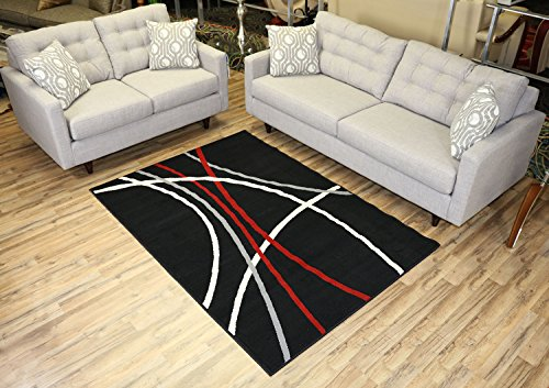 red and black area rugs - 2
