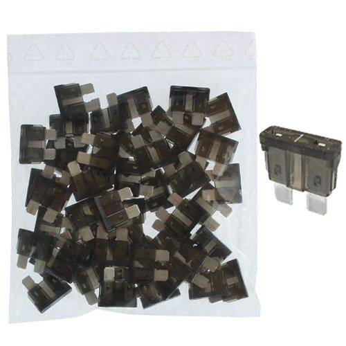 schwarz Sicherung 1A 32V 50 x Flachstecksicherung