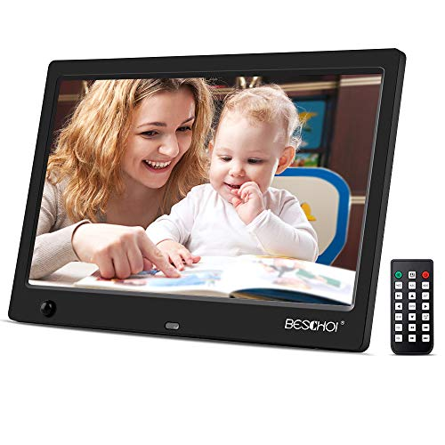 Beschoi 10 inch Digital Photo Frame HD LED Picture Videos Frame with Motion Sensor, - Certificates Ect Gift