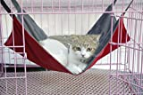 Wellbro Reversible 2 Sides Cat Cage Hammock - Comfortable Pet Hanging Bed - for Cats and Small Dogs - 14
