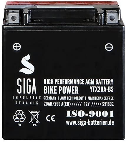 Motorrad Batterie Ytx20a Bs Agm Gel 20ah 12v 290a Elektronik