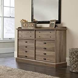 Barrister Lane Dresser, Salt Oak Finish, 6 Drawers With Metal Runners and Safety Stops