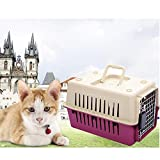 Livebest Pet carrier Load Pet Kennel-Hard Sided Cat&dog Box (M, Red)