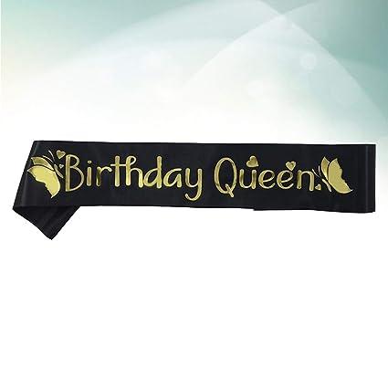 Una cinta de cumpleaños,un dibujo de mariposa,decoración de ...