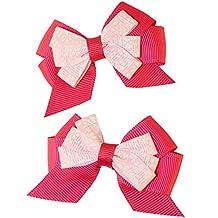 MuttNation Fueled by Miranda Lambert, Pink Floral Bow Set, 2 Bows