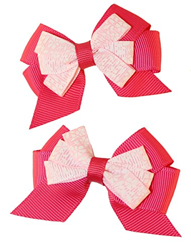 (MuttNation Fueled by Miranda Lambert Pink Floral Bow Set fo Dogs, 2 Bows, One Size, Pink)