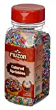 Muzon Foods Rainbow, Quality Color, Jimmies, Decorating Sprinkles for Cupcakes, Confetti, Wedding Sprinkles 9 ounce