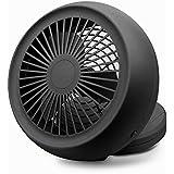 USB Mini Fan, Desk Table & Handheld for Office Outdoor Foldable Base Potable Speed Cooler Dual Power USB Battery (Black)