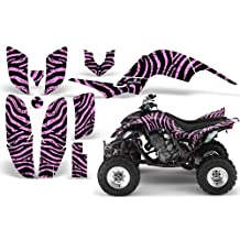 CreatorX Yamaha Raptor 660 Graphics Kit Decals Stickers Zebra Camo Pink Lite