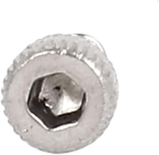 SOURCING MAP M2x4mm filetage inoxidable acier boulons hexagonale Vis /à t/ête creuse 100pcs