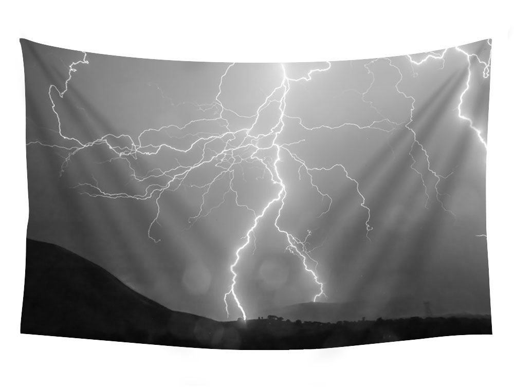 Lightning Storm Wall Hanging Tapestry Psychedelic Bedroom Home Decoration