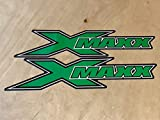 Green X-Maxx Logo Sticker (2) Traxxas X-Maxx XMAXX