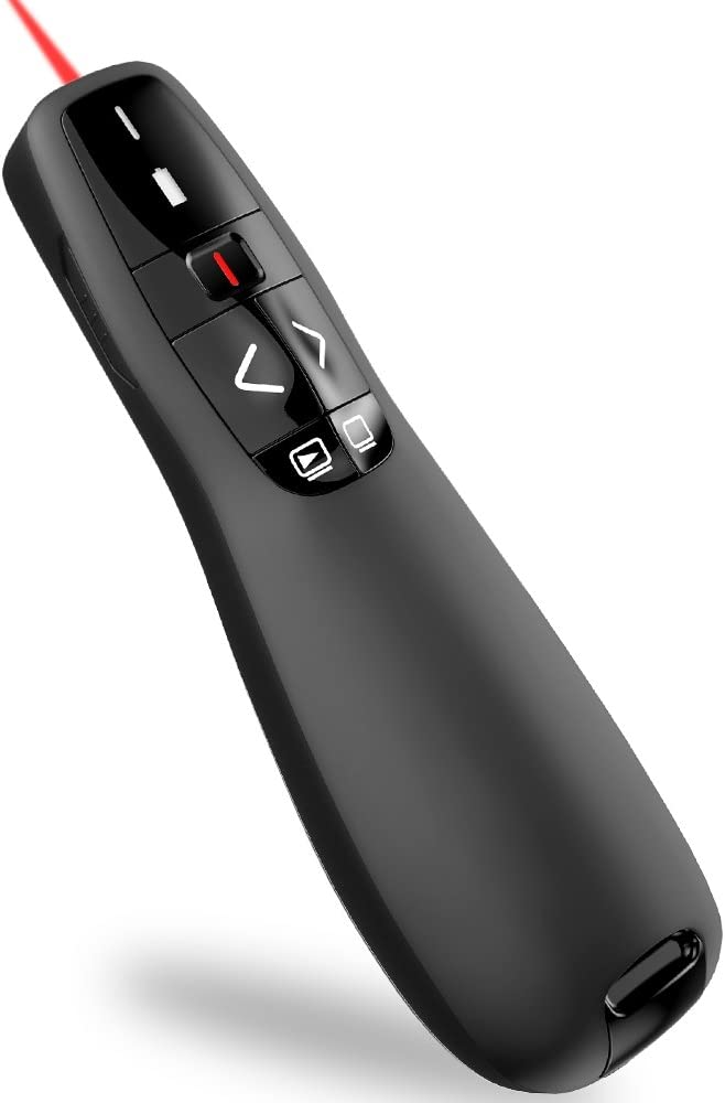 Wireless Presenter Remote, ESYWEN RF 2.4GHz USB Presentation Remote Control PowerPoint Presentation Clicker for Keynote/PPT/Mac/PC