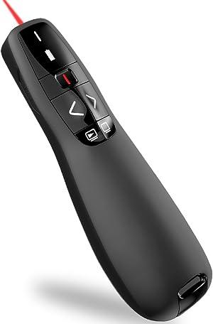 Wireless Presenter Remote, ESYWEN RF 2.4GHz USB Presentation Remote Control PowerPoint Presentation Clicker for Keynote/PPT/Mac/PC…