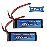 Powermall 2 Packs 3S 11.1V 3000mAh 30C Lipo Battery with Dean-Style T Connector for RC Airplane Helicopter Car Truck Boat Drone and FPV