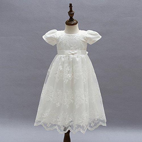 de de bautizos niña de vestido niña flor niña de ZAMME bautizo Vestido Blanco de axXzz6