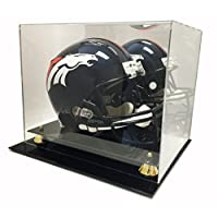 Max Protection Deluxe Acrylic Football Helmet Display Case With Mirror Back
