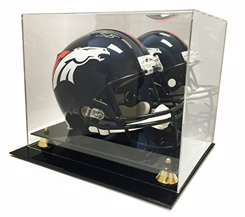 Max Protection Deluxe Acrylic Football Helmet Display Case With Mirror Back -