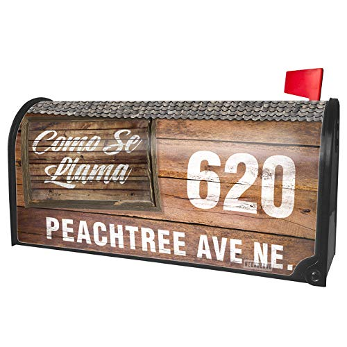 NEONBLOND Custom Mailbox Cover Painted Wood Como Se Llama