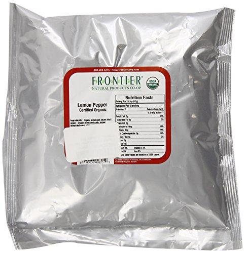 Frontier Lemon Pepper Certified Organic, 16 Ounce Bag by Frontier
