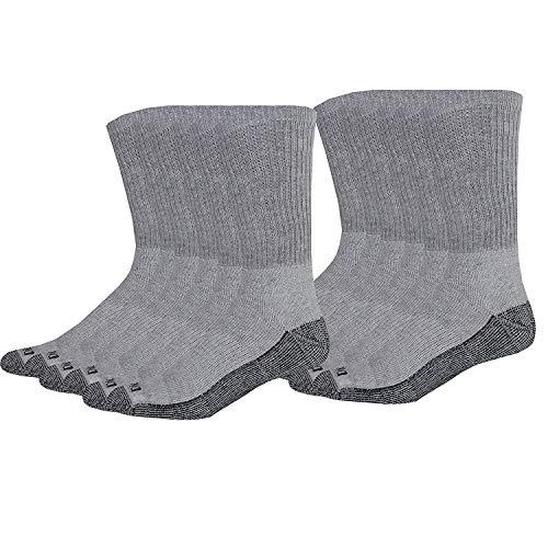 Dickies Men's Dri-Tech Comfort Crew Socks, Grey, 12 Pair
