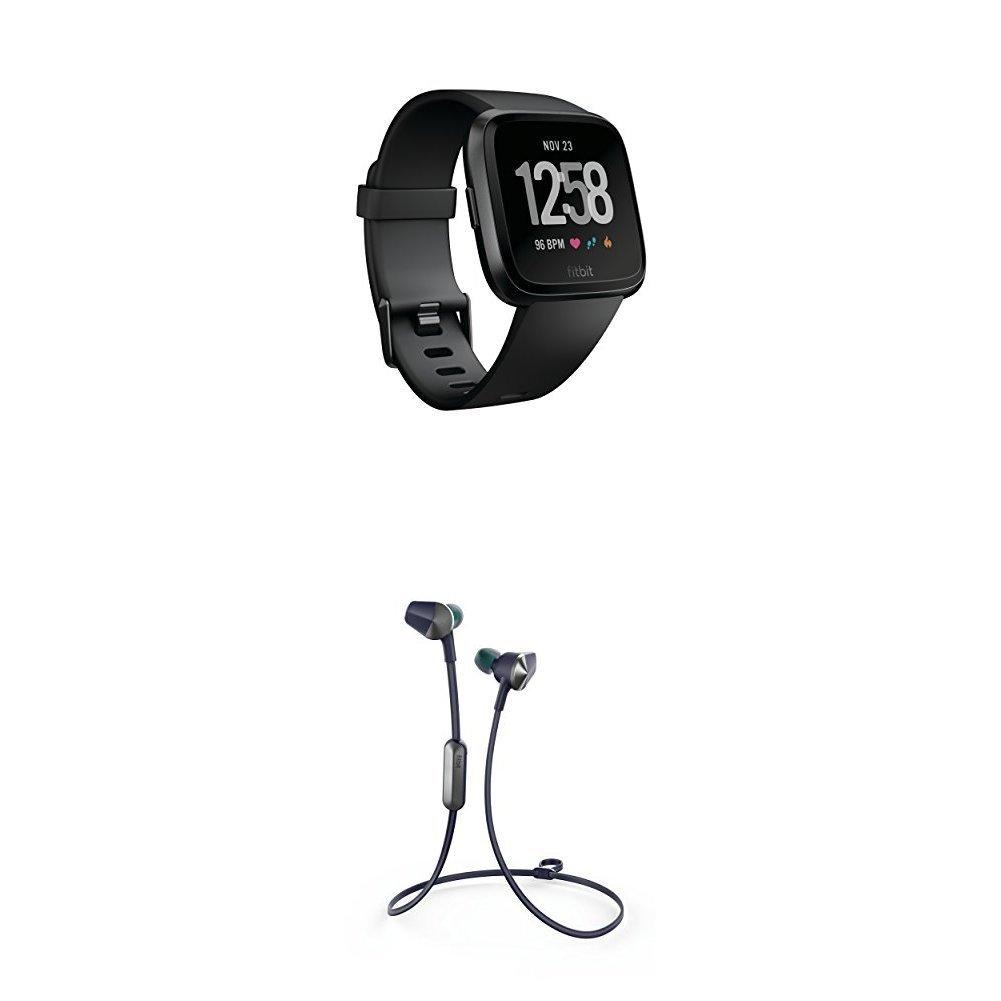 Fitbit Versa Health & Fitness Smartwatch charcoal One Size FB505BKGY-EU