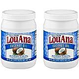 LouAna Pure Coconut Oil (All Natural) 30 fl oz (2 jars)