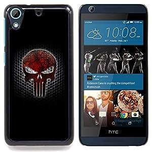 """Qstar Arte & diseño plástico duro Fundas Cover Cubre Hard Case Cover para HTC Desire 626 (Sancionar cráneo"""")"""