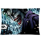 Joker Pillowcase Zippered Throw Pillow Cover Soft Cotton Comfortable Two Sides Picture Printed Custom Standard Size 20x26