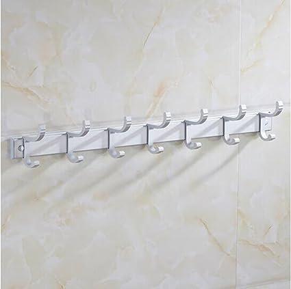 Mensole a muro Ganci in alluminio da spazio Appendiabiti da bagno ...